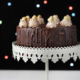 Čoko torta sa spekulasom, lešnicima i brusnicama