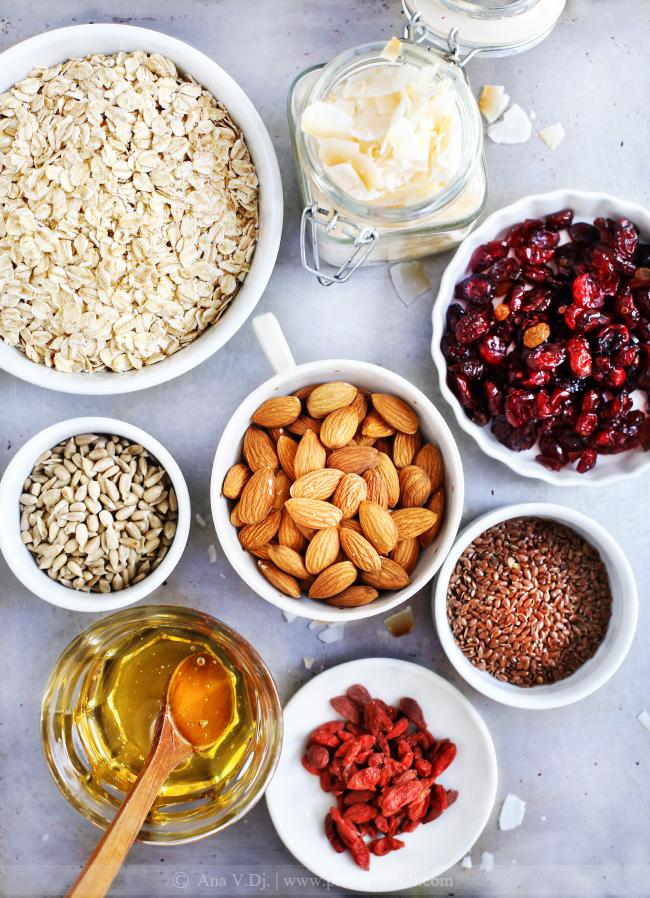 granola-sa-kokosom-sastojci