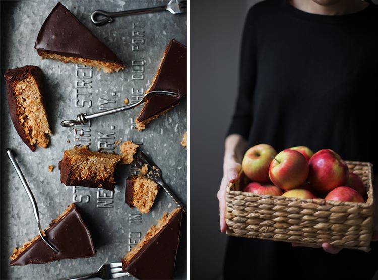 Brzi kolač od jabuka sa ganašom