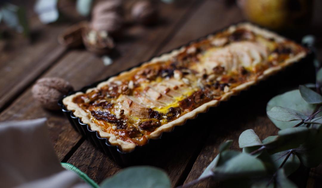 Tart sa kruškama i gorgonzolom