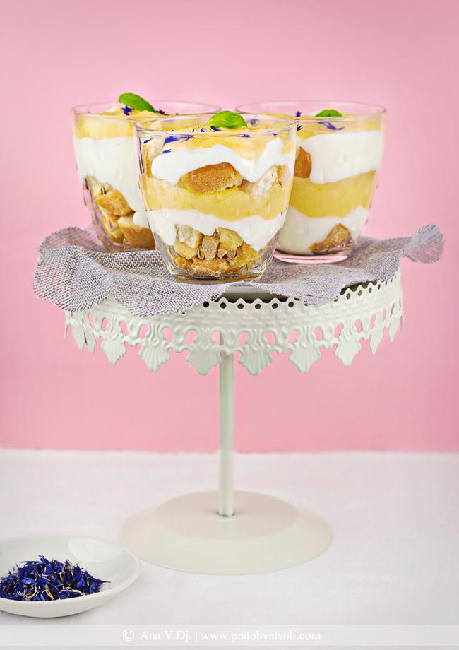 Lagani dezert sa kremom od limuna